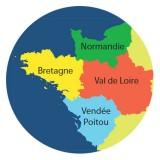 Quatre régions à l'Ouest