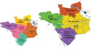 4 régions fortes et bien identifiées