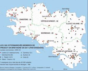 Hypermarchés membres de Produit en Bretagne (2011)