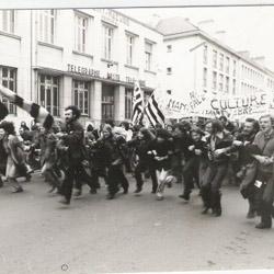 Manisfestation à Saint-Nazaire en 1977