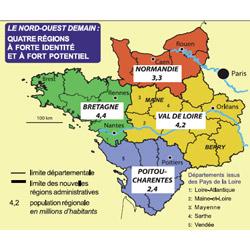 Une Région Bretagne à cinq départements