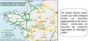 Réseau autoroutier du Nord Ouest de la France