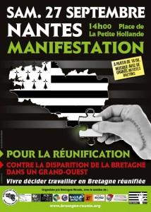 Manifestation pour le réunification à Nantes
