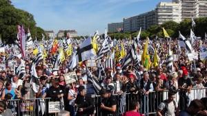 Manifestation pour la réunification de la Bretagne à Nantes