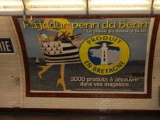 Produit en Bretagne pub métro