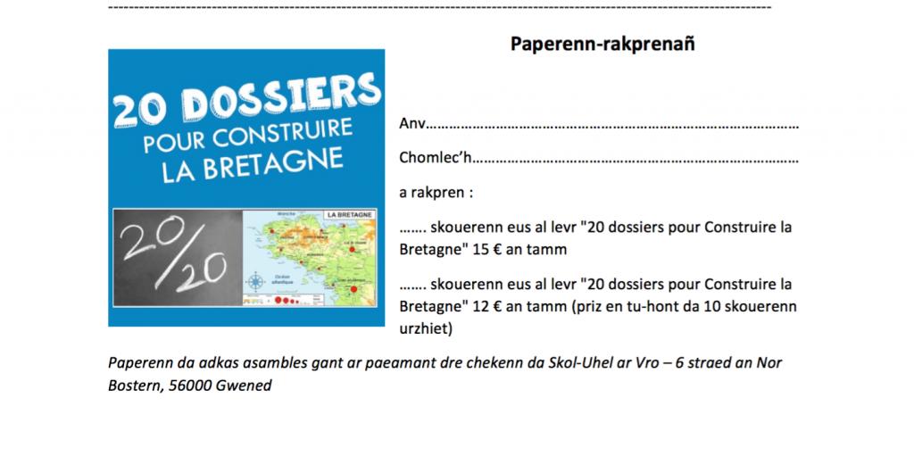 Bulletin souscription livre CLB brezhoneg