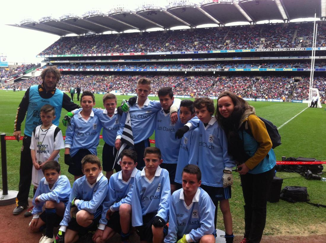 Et les jeunes Bretons de St-Aubin du Cormier gagnent leur match à Croke Park devant 83 000 spectateurs !