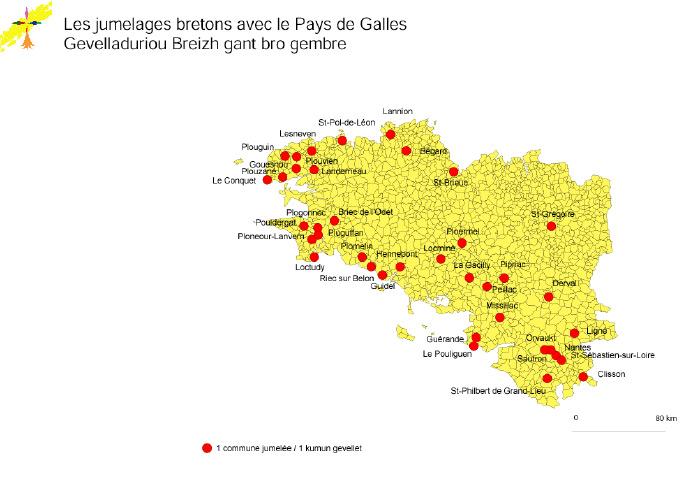 Les jumelages bretons avec le Pays de Galles