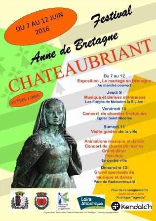 Le festival Anne de Bretagne cette année à Châteaubriant