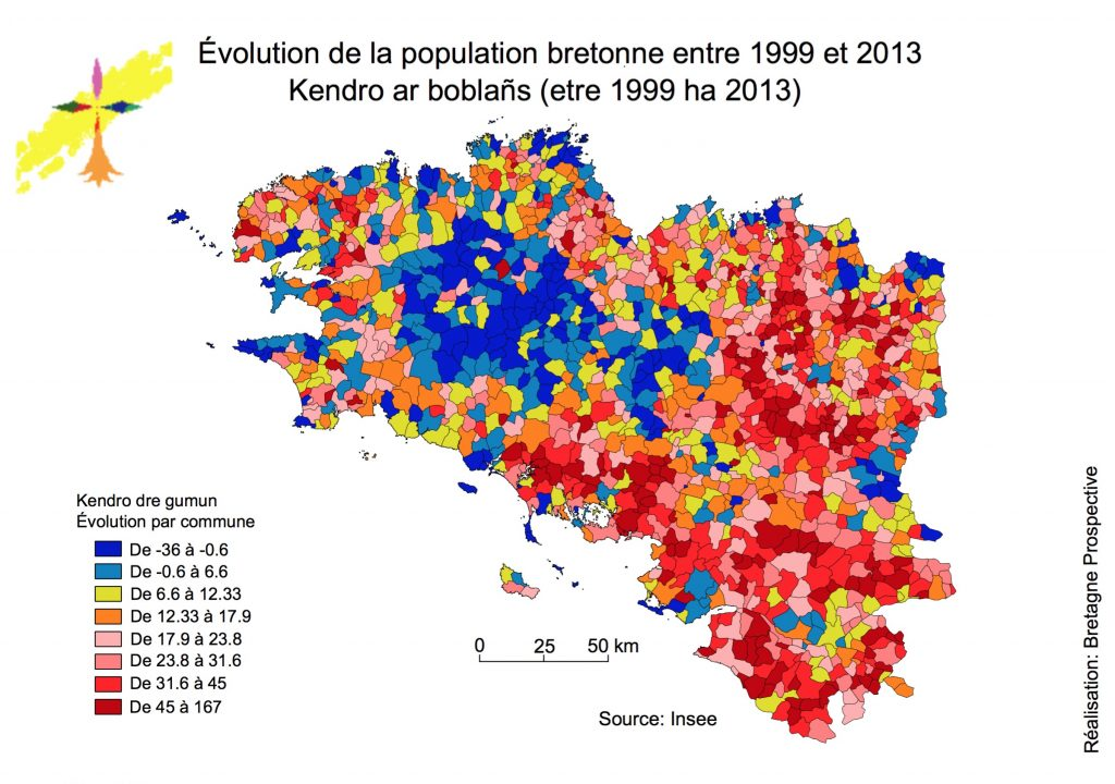 Nouvelle version ratio de population 1999 et 2013