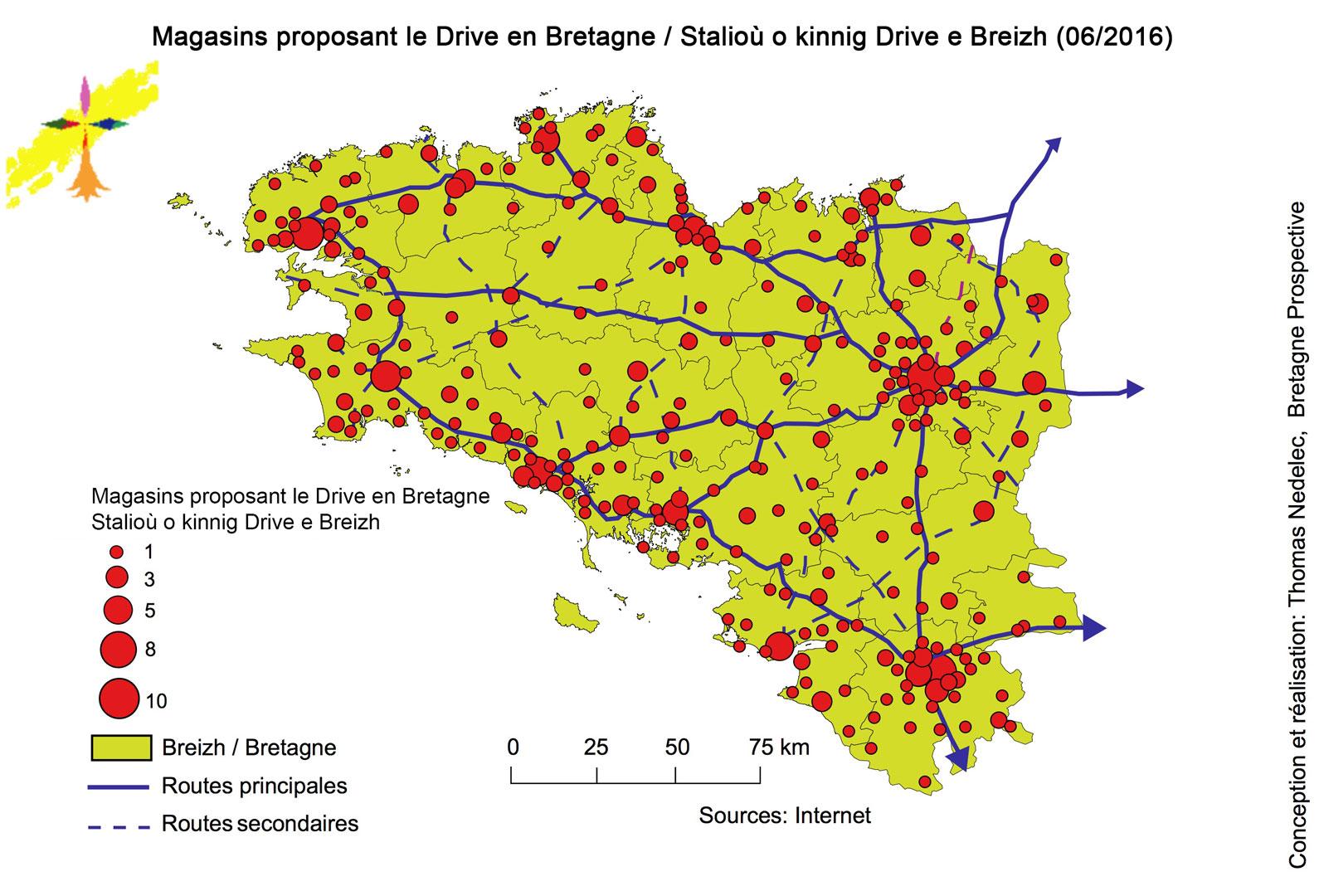 La géographie big bazar des drives ?